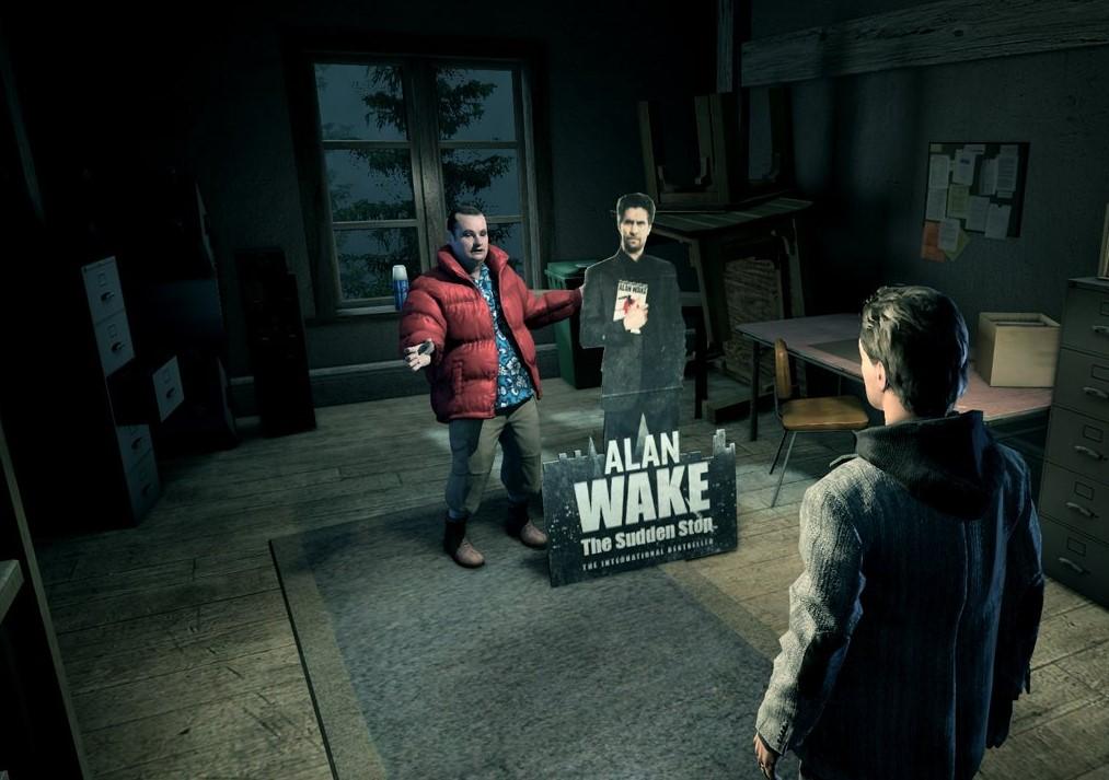 Alan Wake mirando a Barry