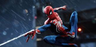 Spiderman lanza su tela de araña