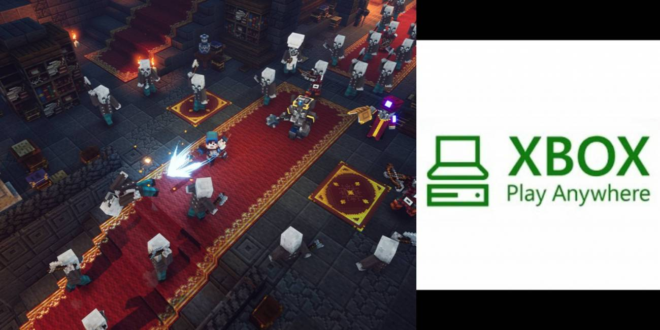 Minecraft Dungeons formará parte de Xbox Play Anywhere - xboxadictos